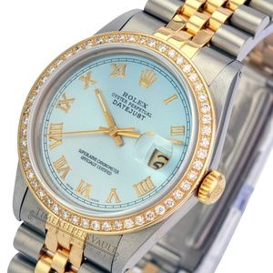 Rolex Datejust 36mm Two-tone Ice Blue Dial Diamond